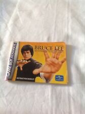 Gameboy Advance Bruce Lee Return Of The Legend Instruction Booklet