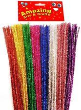 100 Fronzoli TUBO ASPIRAPOLVERE STELI Craft 30cm 8 colori assortiti in ogni confezione