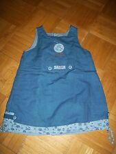 Robe Chasuble Bleue Motif Poisson Lune Sergent Major 18 mois