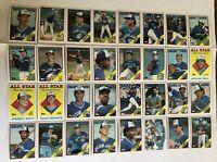 1988 TORONTO BLUE JAYS TOPPS COMPLETE Baseball Team SET 32 Cards FIELDER BELL!