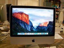 "Apple iMac 20"" Desktop A1224 CORE 2 DUO 2.66GHZ 4GB 320GB  EL CAPITAN OSX 2009"