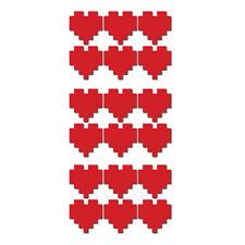 8-bit pixel cœur autocollant mural pack â – 18 pixélisé coeur decals