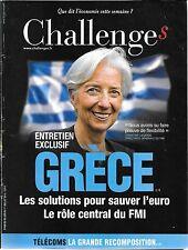 CHALLENGES N° 439-- GRECE LES SOLUTIONS POUR SAUVER L'EURO / LE RÔLE DU FMI--