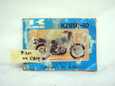 KAWASAKI KZ650-B2 1977 OWNER'S MANUAL (#201)