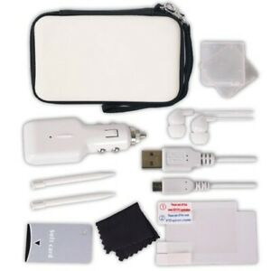 Nintendo DS Lite / DSi - 12 In 1 Travel Accessory Set black / white, Very Good