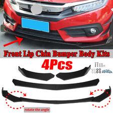 4x Front Bumper Lip Spoiler Fit For Honda Civic 8th 9th 10th Gen Hatchback Sedan