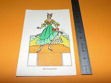 CHROMO 1950-1960 CARTONNAGE BROSSARD GRINGOIRE COSTUME MARTINIQUAISE ANTILLES