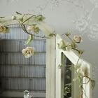 cream rose flower wire garland wedding home girly accessories bedroom pretty