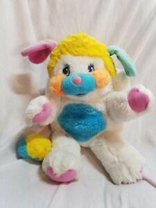 "Vintage Mattel PUFFBALL Popples Plush Toy 80s 12"" Pocket Stuffed Animal 1986"