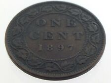1897 Canada One 1 Cent Large Penny Copper Circulated Canadian Victoria Coin M068