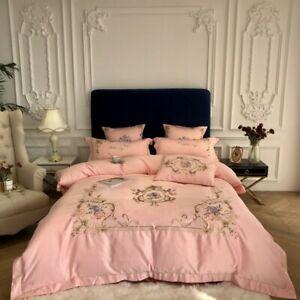 Luxury Duvet Cover Classic Bedding Set Bed sheet Pillowcases Queen King 4 PCS