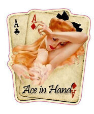 """Pair of Aces Pin Up Girls Decal is 6"""" Free Shipping"""