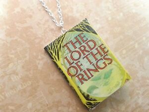 Mini Book Necklace Lord of the Rings The Hobbit Christmas Gift Book Lovers Gift