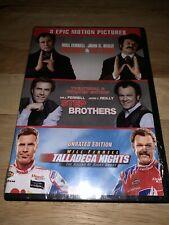 Brand New Holmes & Watson Step Brothers Talladega Nights 3 Movie Collection