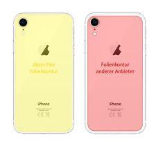 2x Schutzfolie für Apple iPhone XR Rückseite inkl. Rundung Flex Folie dipos
