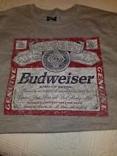 Gray Budweiser T Shirt Large