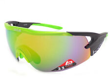 5b53d1117e Bolle Aeromax Matte Black Green 12267 Sunglasses Brown Emerald Lens Large