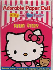 Sanrio Hello Kitty ADORABLE PAPER DOLL KITTY AND HER FAMILY NEW