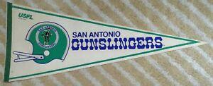 San Antonio Gunslingers Full Size USFL football Pennant 1982