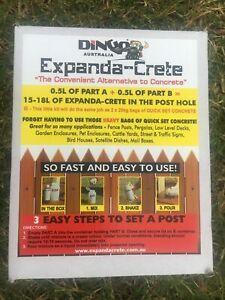 Expanda-Crete - expanding concrete substitute - Single hole Packs.