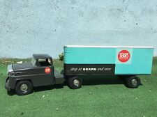 Marx Allstate SEARS Tractor Trailer Truck Tin Litho Toy All Original