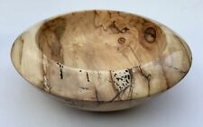 """Hand turned 9"""" Spalted Sycamore wooden bowl"""