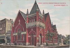 First United Presbyterian Church, Martins Ferry, Ohio on Walnut in early 1900's