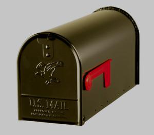 Gibraltar Elite Galvanized Steel Post Mounted Venetian Bronze Mailbox E1100BZ0