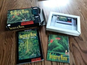 Secret of Mana SNES Super Nintendo Authentic complete with box game map manual