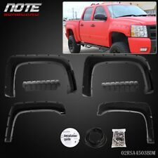 Fender Flares Pocket Style For 07-14 Chevy Silverado 1500 2500HD/3500HD Textured