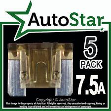 7.5-amp Micro Fusibles X 5 – Automotriz Fusible-de bajo perfil, Mini, APS, att 7.5 a un