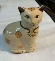 Vintage Prestige Place Museum American Folk Art Cat Trinket Box / Candle