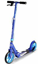 Fuzion City Glide Adult Kids Kick Scooter w/ Adjustable Bars & Handbrake Blue