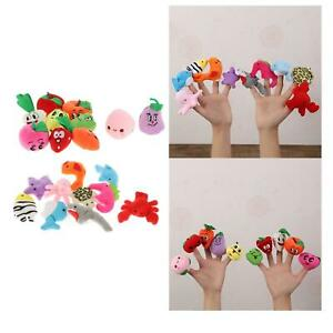 10x Mini Finger Puppets Soft Dolls Toys for Autistic Children Play Game