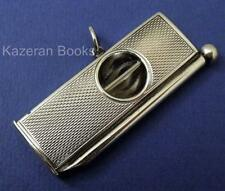 Vintage Hallmarked Solid Silver 1961 Cigar Cutter & Piercer By S.J. Rose & Son
