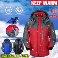 Winter Mens Warm Thick Jacket Ski Snow Hiking Waterproof Hooded Coat Outwear New