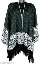 Châles/écharpe noir en acrylique pour femme