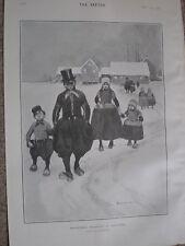Mañana de Navidad en Holanda por Tom Browne 1902 dibujos animados de impresión ref W2