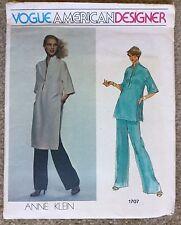 Vintage Uncut Vogue American Designer Anne Klein Tunic Sewing Pattern #1707 Sz 8