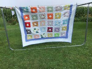 Older Amish Made Patchwork Quilt Hand Stitched