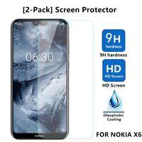 2Pcs Premium 9H Tempered Glass Film Screen Protector For Nokia X6/6.1 Plus 2018