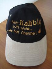 Schirmmütze BASECAP Cap Mein Kaltblut hat Charme schwarz beige Mütze NEU