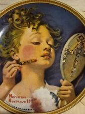 "Norman Rockwell ""Making Believe at the Mirror"" Collectible Plate 8.5"" in Box"