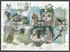 Nederland NVPH 3812-21 Vel Beleef de Natuur Roofvogels & Uilen 2020 Gestempeld
