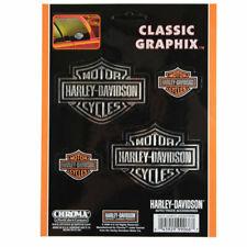 Biker Harley Davidson HD Classic Logo USA Chrom Emblem Aufkleber Decal Sticker