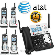 AT&T SYNJ Corded SB67138 w/ 4 Cordless SB67108 Handsets DECT Phone System 4 Line