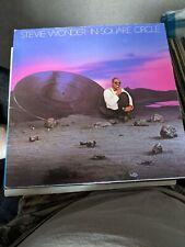 New listing RARE STEVIE WONDER VINYL LP IN SQUARE CIRCLE ITALY EMBOSS 8 PAGE BKLET NM/NM GAT