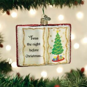 The Night Before Christmas Book Ornament Old World Christmas 32381