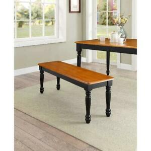 Better Homes & Gardens Autumn Lane Farmhouse Solid Wood Dining Bench, Black
