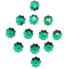 SCM314 Emerald Green 10mm Marguerite Lochrose Flower Swarovski Crystal Bead 12pc